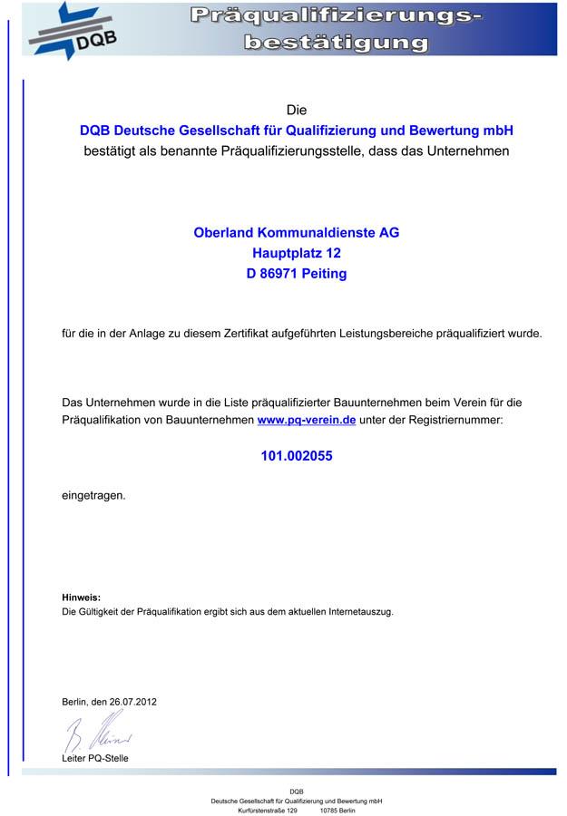 Zertifizierungen - Maschinenring Oberland